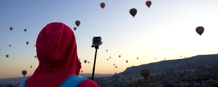 Titelbild Heißluftballons über Kappadokien, Türkei