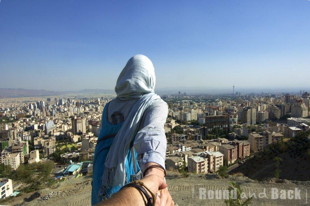 Teheran, Aufnahme vom Berg Tochal aus