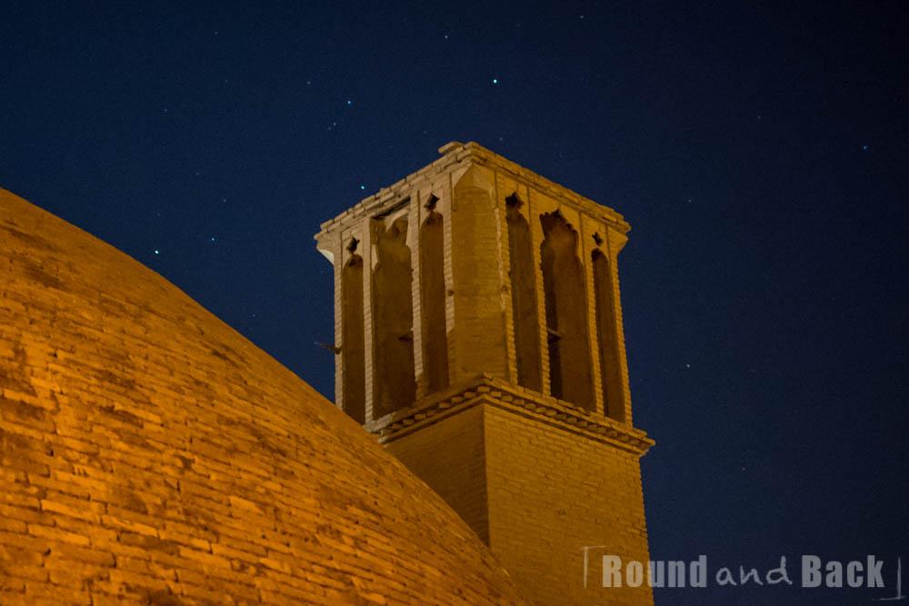 Yazd, Windturm bei Nacht