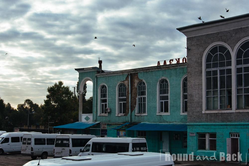 Busbahnhof in Bishkek, Kirgistan